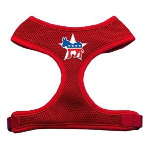 Democrat Screen Print Soft Mesh Harness Red Large